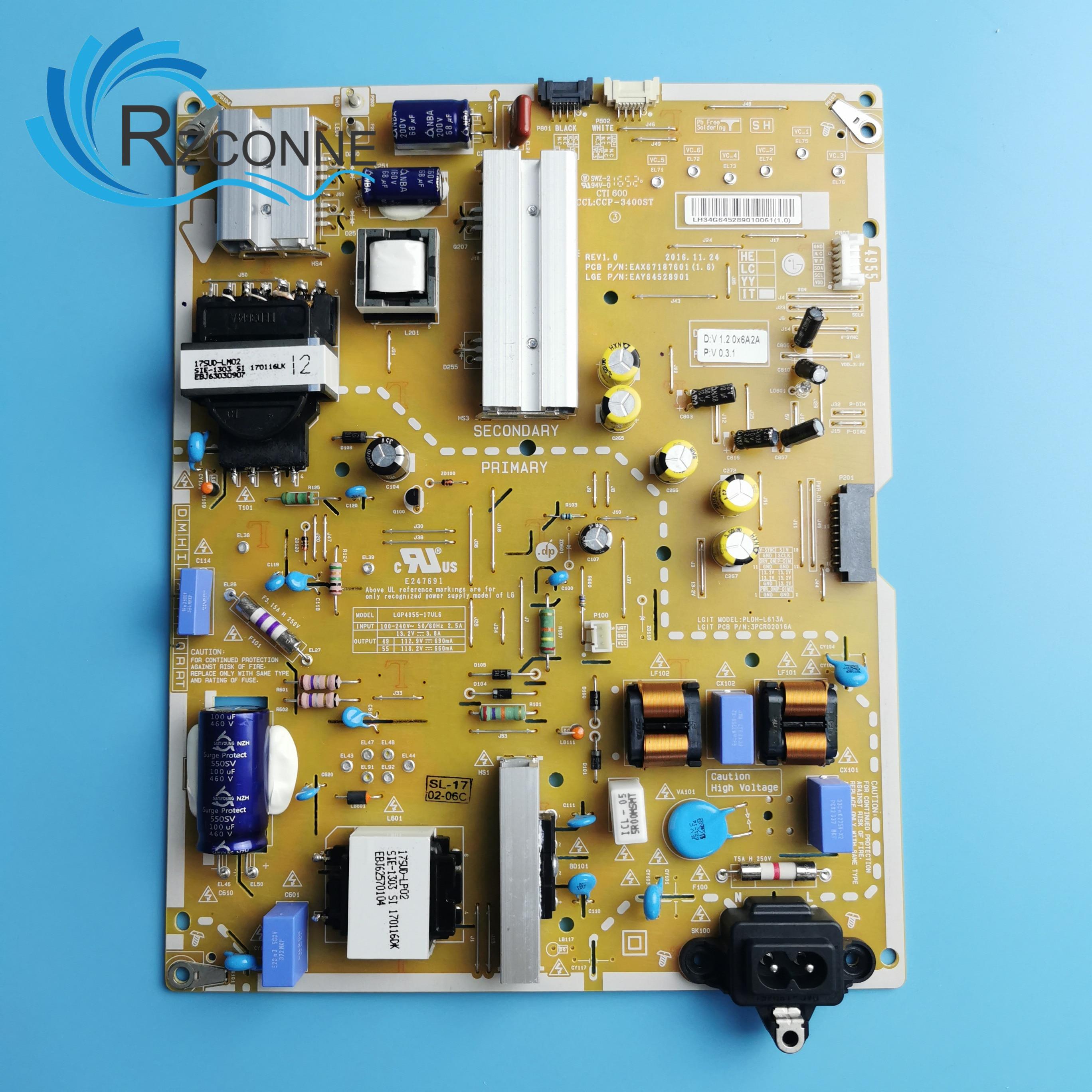 Power Board Card Supply For LG LCD TV 55UJ7700 LGP4955-17UL6 49UJ750V PLDH-L613A 49SJ810V 49SK7900PLA 55SJ800V LC490EGH-FKM1