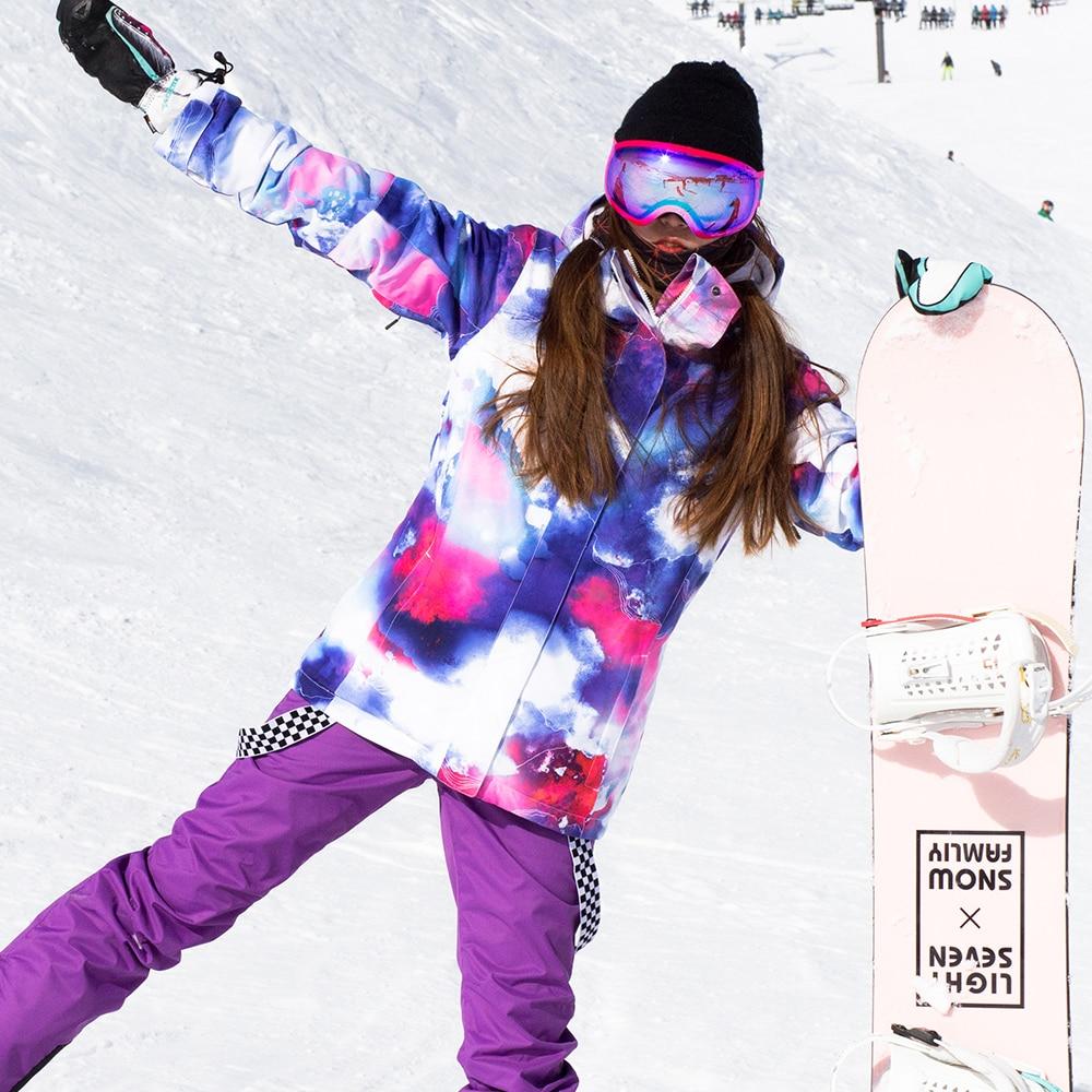 SIMAINING femmes hiver veste de Ski chaude Ski snowboard veste manteau de neige coupe-vent imperméable Sport de plein air vêtements