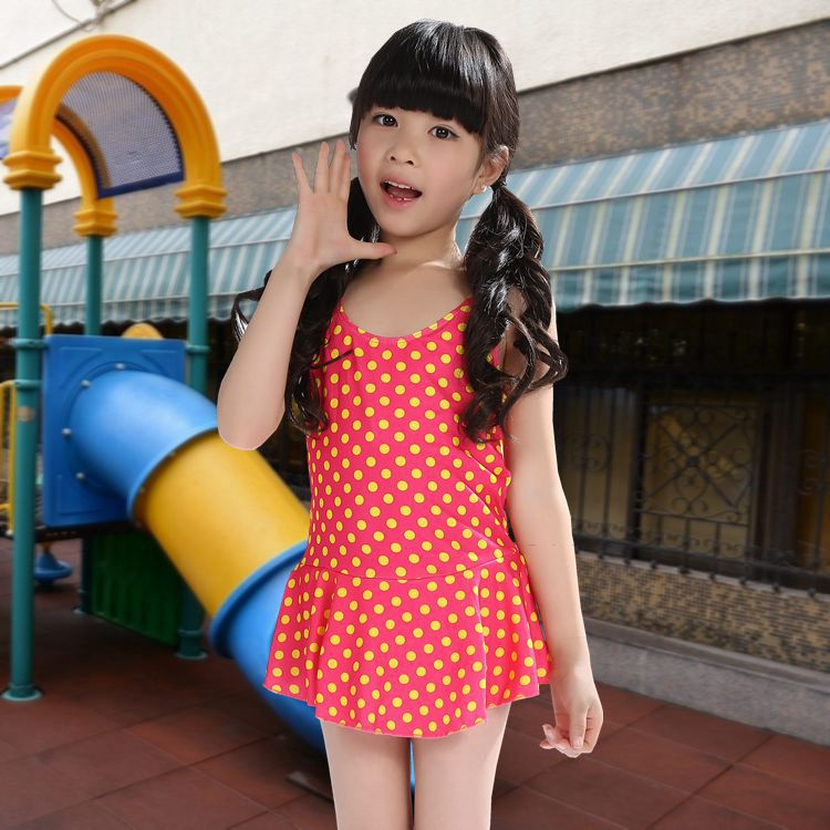 Hot Springs New Style Children Bathing Suit Fashion Sweet Cute GIRL'S Dress-Multi-color Hot Selling Hot Selling Swimwear