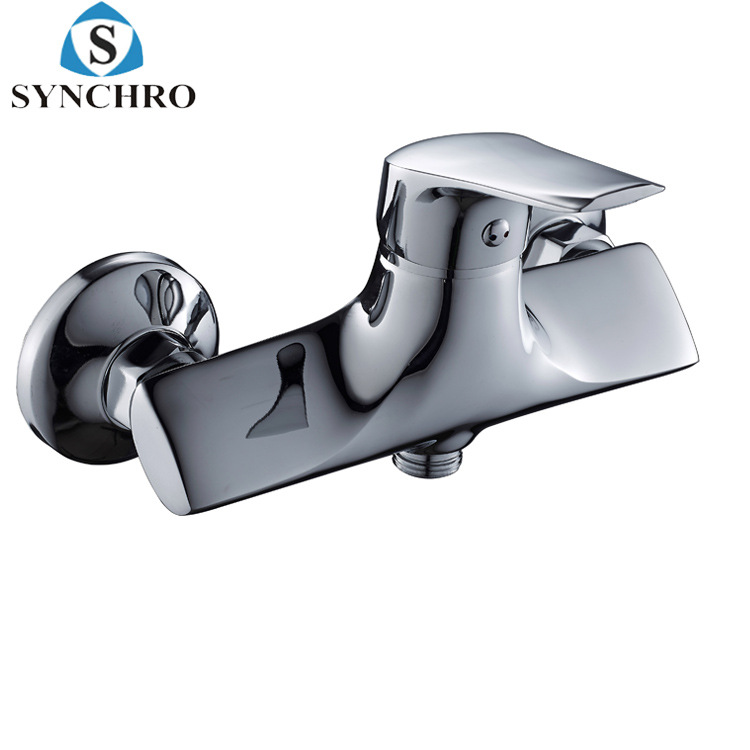 New Style Bathroom Shower Faucet Paperback Shower Faucet Copper Tri-Phone Body Set Shower Faucet Mixed Cold