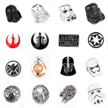 Star Wars Pin Stormtrooper Bros Pin Darth Vader Aliansi Pemberontak Falcon Bros Lencana Kerah Pin Pria(China)
