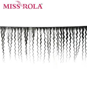Image 2 - ملكة جمال رولا شعر ماليزي موجة عميقة 3 حزم مع إغلاق اللون الطبيعي 100% شعر الإنسان 8 26 بوصة غير تمديدات شعر ريمي