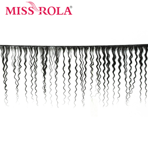 Image 2 - Miss Rola Hair Malaysian Deep Wave 3 Bundles With Closure Natural Color 100% Human Hair 8 26 Inches Non Remy Hair Extensions