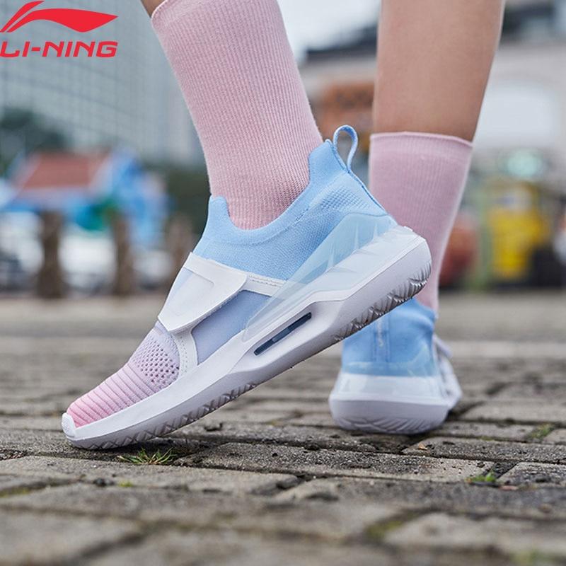 Li-Ning Women EXTRA II Stylish Lifestyle Shoes Mono Yarn Breathable Sock-Like LiNing Li Ning Sport Shoes Sneakers AGLP028 YXB301