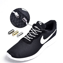 Sneakers Shoelaces Elastic Lazy-Shoe Locking Reflective Round Quick Adult 1pair No-Tie