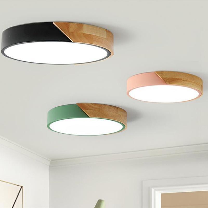 Lámpara de techo Led ultradelgada para dormitorio, lámparas de habitación modernas, accesorio de iluminación, para sala de estar