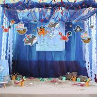 Акула морские животные фольга вихревой детский день рождения украшения Пиратская подводная лодка фото реквизит морская тема Вечеринка Мал...