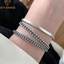 XIYANIKE – Bracelet ouvert en argent Sterling 925 pour femme, accessoire de mode rétro coréen, passe-partout, de haute qualité
