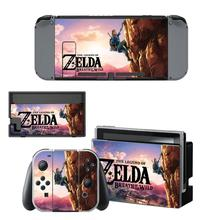 Nintendoswitch Sticker The Legend of Zelda Wrap Skin Decal for Nintendo Switch Full Set Faceplate Stickers Console Joy-Con Dock