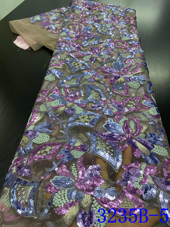 Французская Тюлевая кружевная ткань NIAI с блестками 2020, Высококачественная африканская кружевная ткань, новейший кружевной материал для ве...