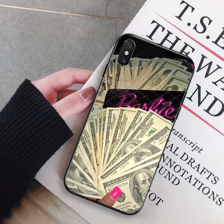 お金ない友人 Kash ブラックヘッド少女ソフトシリコンカバー携帯電話ケース iPhone 6 6 6S 7 8 プラス X XR XS 最大プロ
