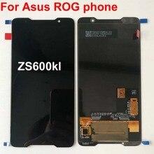 2018 الأصلي Amoled شاشة ل Asus ROG الهاتف Zs600kl z01QD شاشة الكريستال السائل مجموعة المحولات الرقمية لشاشة تعمل بلمس استبدال قطع الغيار