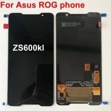 2018 Original AMOLED หน้าจอสำหรับ ASUS ROG โทรศัพท์ Zs600kl z01QD จอแสดงผล LCD TOUCH Digitizer อะไหล่