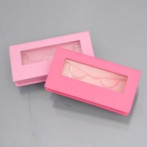 Image 5 - 150pc custom lash boxes packaging eyelash box with logo faux cils 3d mink eyelashes strip square magnetic case bulk vendors