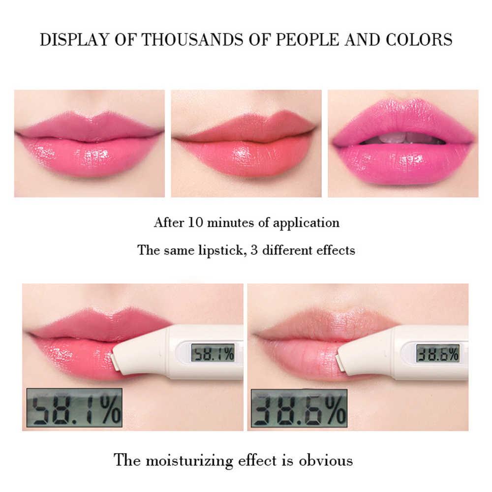 1PC אלוורה טבעי קרם לחות שפתון טמפרטורה שונה צבע Lipbalm טבעי קסם אדום מגן שפות קוסמטיקה TSLM2