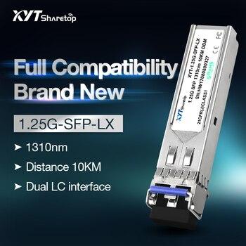 цена на Sharetop 1.25G 1000M optical transceiver module single mode dual fiber SFP-1000M-1310nm 10/20/40km dual LC full compatible