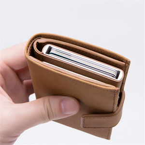 Image 4 - BISI GORO 2019 New Style RFID Card Holder And Minimalist Wallet Metal Men Women Single Box Aluminium Blocking Holder for Cards