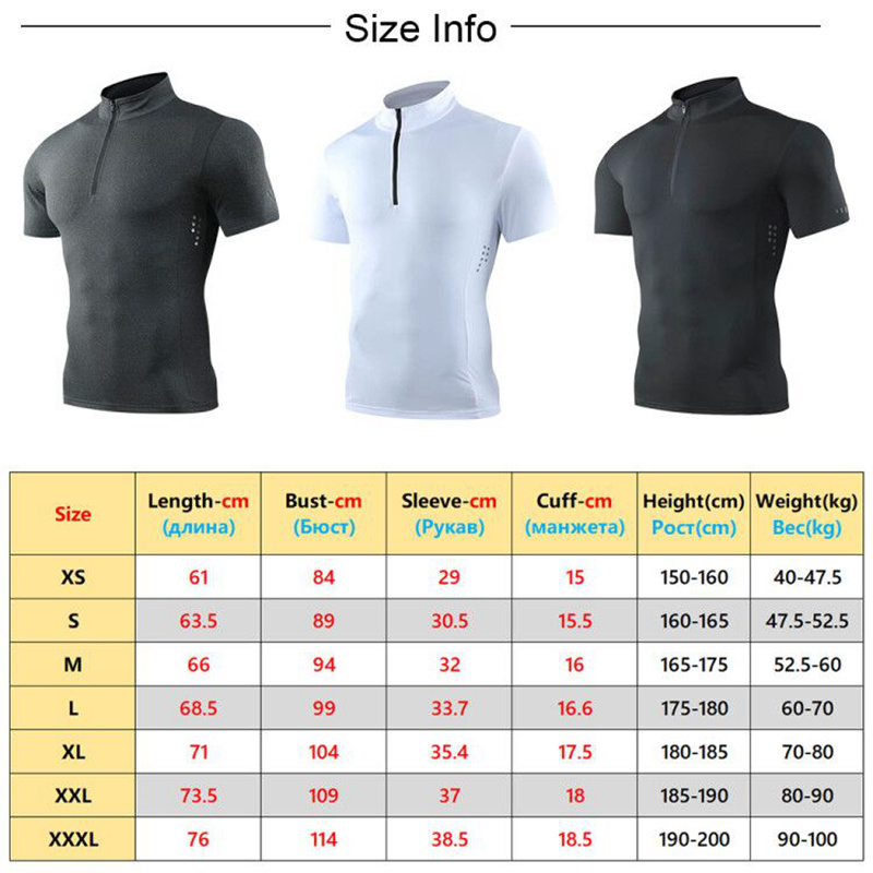 running - Gym Short Sleeve T Shirt Breathable Quick Dry Running Hiking Cycling Compression Outdoo Tops Men Bodybuilding Workout Shirts