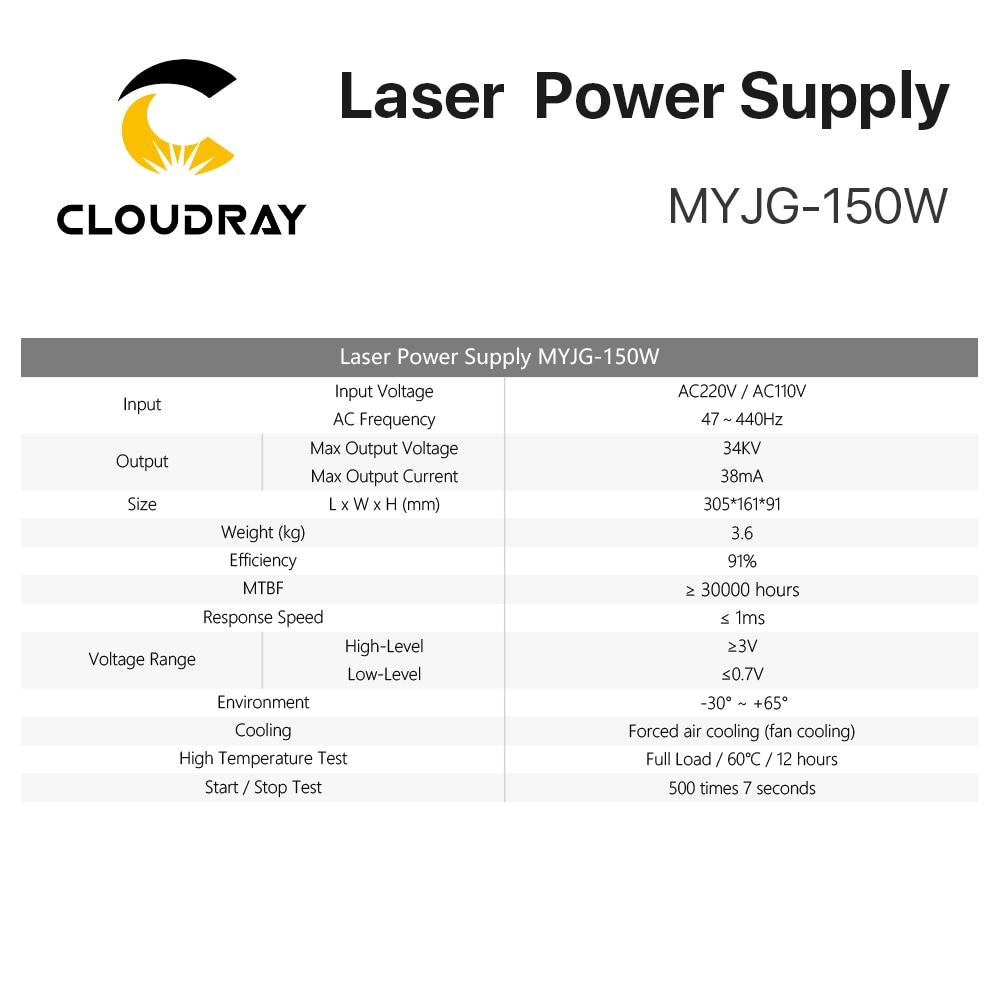 Zasilacz laserowy Cloudray 130-150W CO2 do grawerki laserowej CO2 - Części maszyn do obróbki drewna - Zdjęcie 4