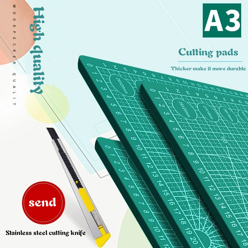 A2a3A4a5 Double-sided Cutting Pad Large Desktop Student Hand Account Art Carving Knife Cutting Paper Rubber Seal Carving Pad