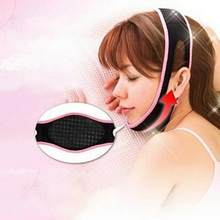 1PC Black Face Lift Up Belt Sleeping Massage Slimming Face Shaper Relaxation Bandage(China)