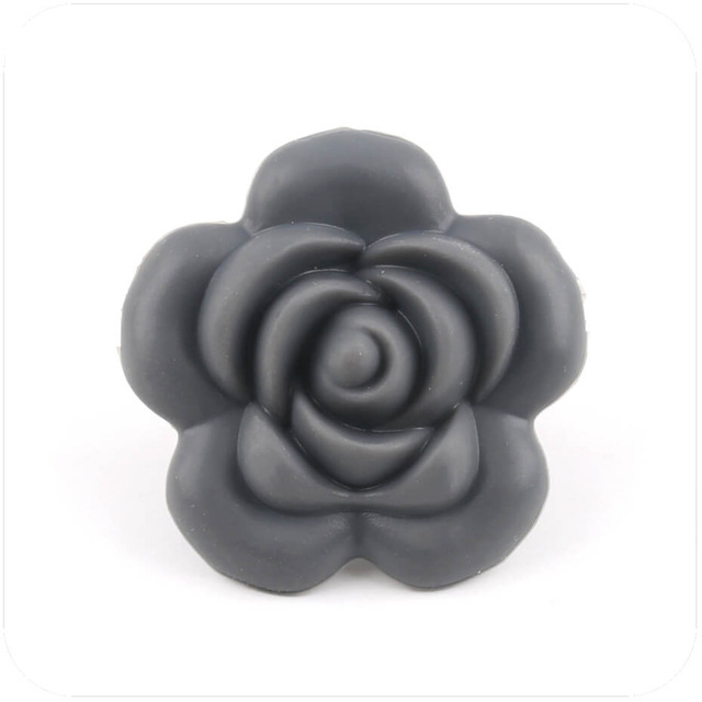 Let's Make 20pc Silicone Teething Rose Flower Baby Teether DIY Crafts Silicone Beads Kids Toys Baby Silicone Nursing Teether