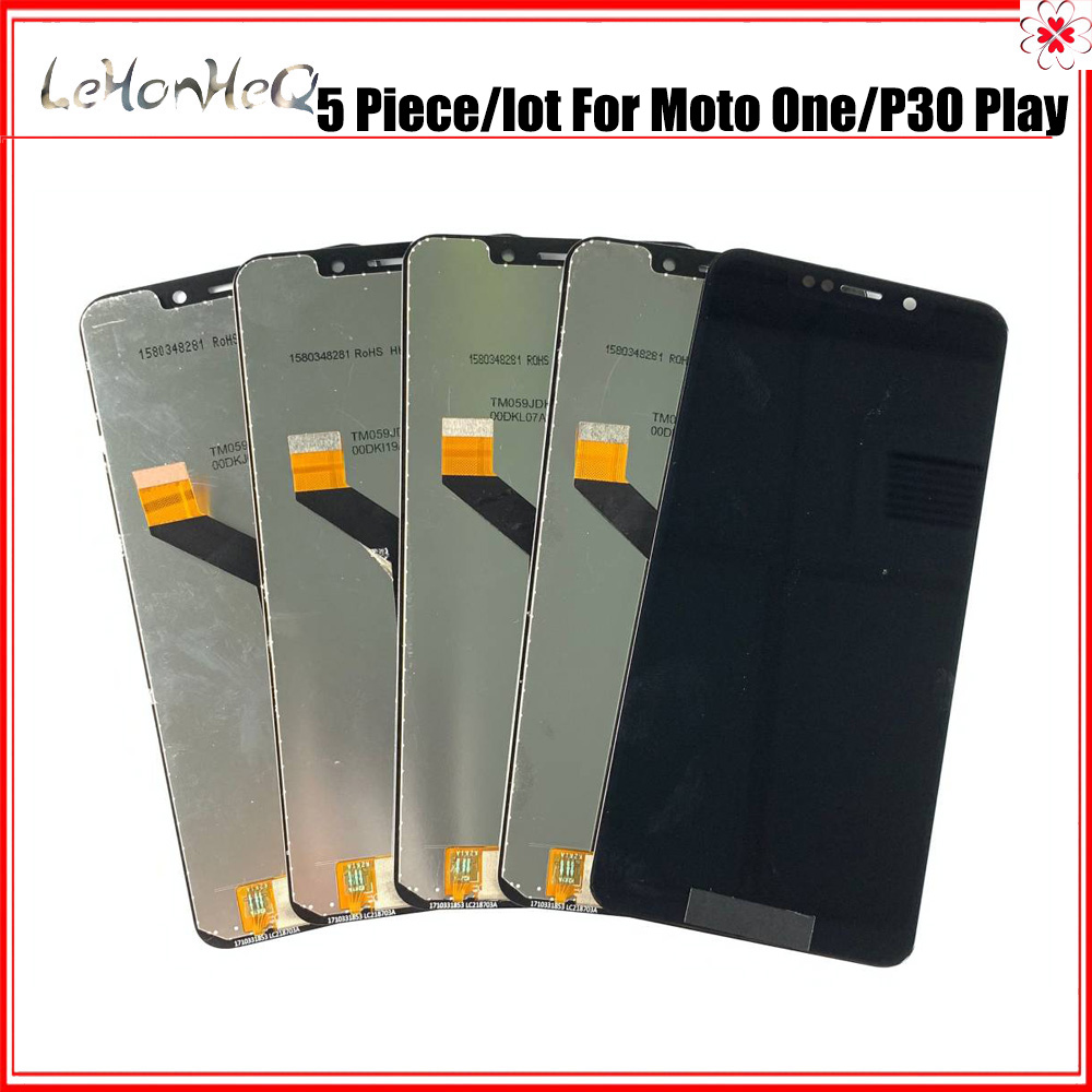5 Piece/lot <font><b>LCD</b></font> For Motorola Moto One <font><b>LCD</b></font> Frame <font><b>P30</b></font> Play XT1941-1 XT1941-3 XT1941-4 <font><b>LCD</b></font> Display Touch screen digitizer assembly image