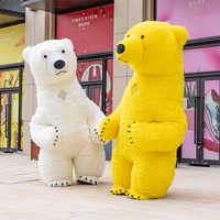3m weiß eisbär Maskottchen Kostüm Für Erwachsene Aufblasbare Eisbär Kostüm Werbung Für Fantasien Homem Anpassen Hoch Kurzen