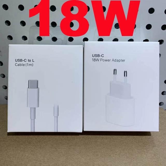 Original 18w Chargeur rapide Adaptateur Pour iPhone 12 mini 11 Pro XR XS Max 8 Plus PD USB Type C De Charge Rapide Chargeur De Voyage Prise UE