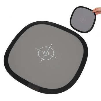 Portátil 30cm 18% gris blanco Tarjeta de equilibrio doble lados placa reflectora de la placa de enfoque para cámara Digital SLR