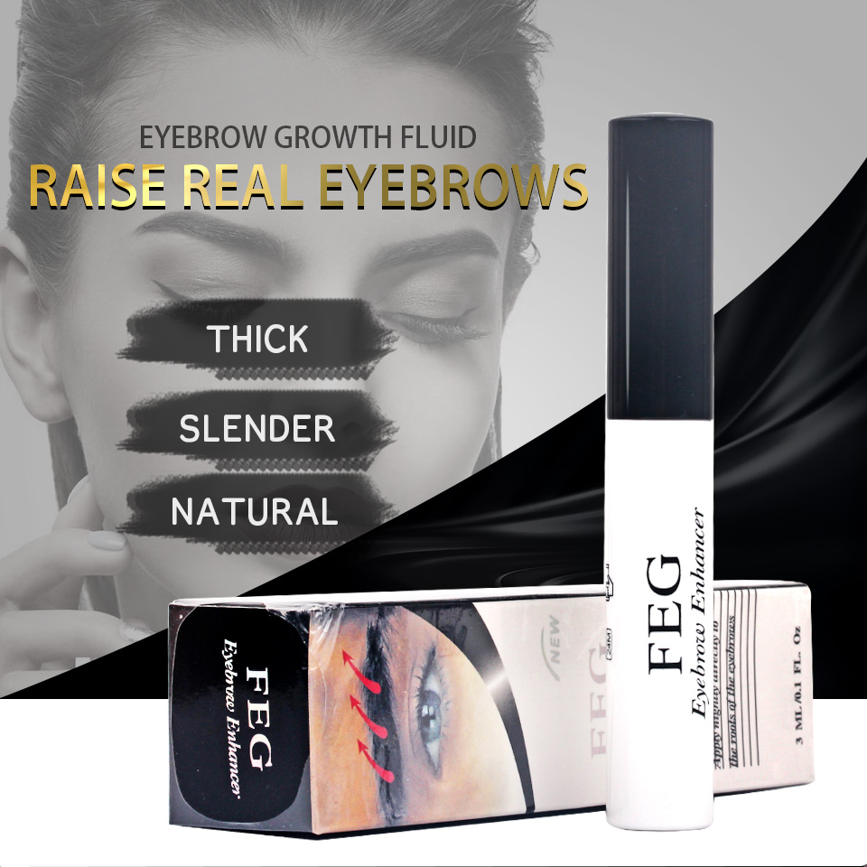 100% Original Professional Feg Eyebrow Enhancer Eyelash Growth Serum Natural Medicine Eyelashes Enhancer Lengthening Longer 3