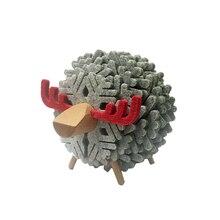 Украшение для дома и офиса, коврик для чашки, овцы, олени, форма, противоскользящая, теплоизоляция, Круглый подстаканник, украшение, простой подарок