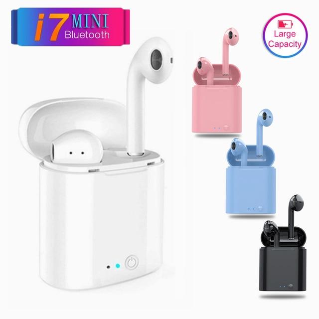 I7s tws słuchawki bezprzewodowe słuchawki Bluetooth kolorowe słuchawki douszne jakość dźwięku zestaw słuchawkowy dla Iphone Xiaomi Redmi Huawei samsung