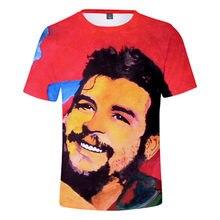 T-shirt con stampa 3D Che Guevara T-shirt girocollo manica corta Harajuku T-shirt personalità Hip-hop per uomo e donna Streetwear