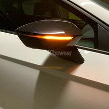 Dinâmico led turn signal blinker para seat ibiza 6f arona kj7 leon mk3 5f lado espelho indicador de luz 2017 2018 2019 sequencial