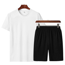 Men's Hot Sale Brand Clothing Summer New Two Piece Set Casual Beach Set Shorts+T Shirt Quick-Drying And Breathable Sportswear