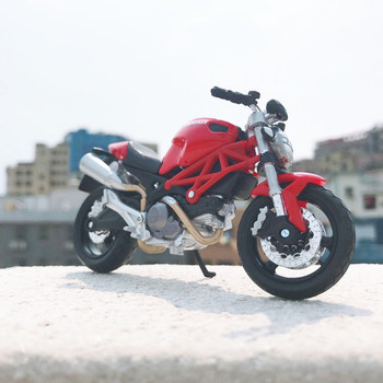 Maisto NEW 1:18 Ducati-Monster696 Alloy Diecast Motorcycle Model Workable Shork-Absorber Toy For Children Gifts Toy Collection 1 18 diecast model for nissan geniss livina red mpv alloy toy car miniature collection gifts