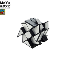 Moyu ayna fırıldak küp 3x3x3 zeka küpü sihirli küp 3x3 hız küp 3*3 küp fırçalanmış etiket 3x3 bulmaca profesyonel eğitici oyuncaklar Moyu Mirror windmill magic cube