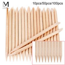 100/50/10 pcs Houten Cuticle Pusher Nail Art Cuticle Remover Orange Wood Sticks Voor Cuticle Verwijderen Manicure nail Art Gereedschap(China)