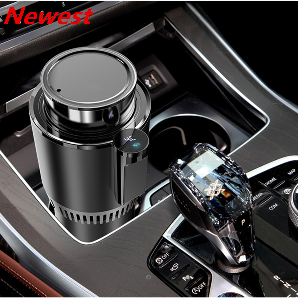 <font><b>DC</b></font> 12V Car Heating Cooling Cup 2-in-1 Car Office Cup Warmer Cooler Smart Car Cup Mug Holder Tumbler Cooling Beverage Drinks Cans image