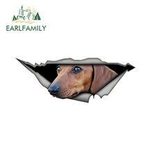 EARLFAMILY-pegatinas 3D para coche, pegatinas creativas modificadas impermeables para perro y mascota, 15cm x 6cm