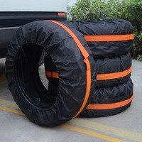 4 pçs ajustável dustproof fácil instalar leve pneu capa acessórios sacos de armazenamento portátil universal protetor roda de reposição|Acessórios de pneus| |  -