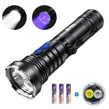 WUBEN 2 in 1 UV Flashlight LED Ultraviole 365nm Black Light 500 Lumens White Light Waterproof Ultraviolet Pet Urine Detector
