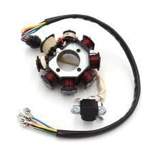 8 القطب لفائف التيار المتناوب الإشعال مغناطيسي الجزء الثابت ل CG125 8 150cc 250cc موتوكروس ATV