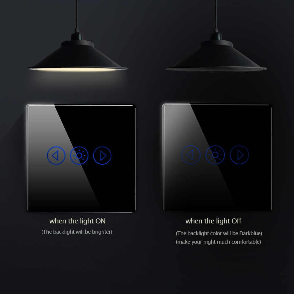 New Eu 標準ライト調光リモコン無線 Lan App 制御タッチスイッチスマートオートメーション防水スイッチ 220V eWelink またはチュウヤ