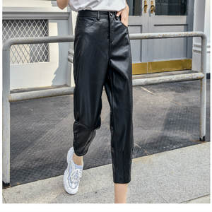 Harem Pants High-Waist Women's Genuine Plus-Size Ankle-Length Slim Thickened 3XL
