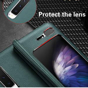 Image 5 - Luxe Leather Case Voor Samsung Galaxy Fold Case Vintage Patroon Volledige Beschermende Plating Hard Cover Voor Samsung Fold Case Coque