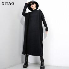 XITAO-suéter tejido a la moda para mujer, suéter plisado con ventilador de diosa, suéter holgado de estilo informal elegante para invierno, ZY1430, 2020