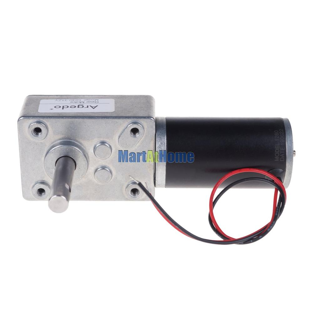 Image 3 - 5840 31zy Worm DC Geared Motor Double Shaft 21W 12V 24V Self locking Max. 70 Kg.cm for DIY Automatic drying rack-in DC Motor from Home Improvement