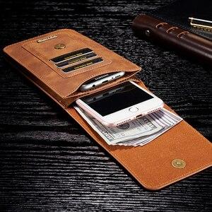 Image 4 - HAISSKY PU Deri Cep Telefonu Cüzdan Kılıf Kemer Klip Döngü Bel Çantası Kılıfı Kılıf Açık Spor Cep iPhone Huawei Için xiaomi